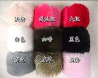 Wholesale 2014 pair Winter Women Imitation Rabbit Fur Wrist Sleeve Warm Plush Can Be Used Sleeve Ornament Cuff Wristband Oversleeve Gloves