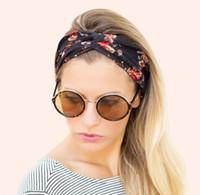 Wholesale 2015 Women s Vintage Floral Headband Fashion BOHO design Teenagers flower cotton headwraps Fashion Accessories