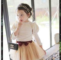 shirt puff sleeve - 2015 kids girl t shirt lace children t shirts girls puff sleeve princess long sleeve