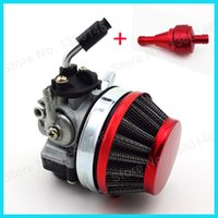 carburetor 2 stroke - Red Racing Carb Carburetor Gas Fuel filter For stroke Gas Motorized Bike Bicycle Mini ATV Dirt Pocket Bikes order lt no track