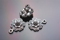 Wholesale 300pieces mm Rose Flower Pendant Charms Plated Silver DIY Jewelry Finding Making Charms Necklace infinity Bracelets Earring Accessory