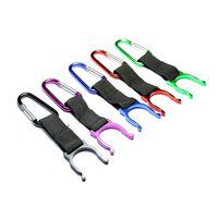 belt buckle opener - New Carabiner Belt Clip Key Chain Water Bottle Hook Clamp Holder Outdoor Aluminum Buckle
