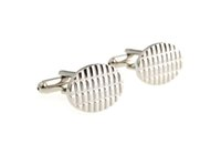 Wholesale Men s Cufflinks jewelry Oval Oval Silver Full dress Shirt Cuff Links Cool Gift Cheap But High Quality