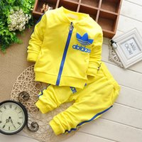 Cheap 2015 New Kids Sprot Suit Long-sleeved Coat Long Pant 2pcs Spring Kids Suit AD Clothes