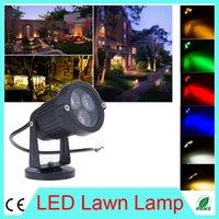 Wholesale IP65 waterproof LED Lawn Lamps Spot light with Base AC V W Landscape Yard Path Spot Light for outdoor garden flower lighting