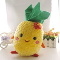 animated valentine - Small Cute Animated Fruit Pineapple cm Stuffed Plush Children Soft Toys Yellow Body with Green Leaves Birthday Valentine Gift