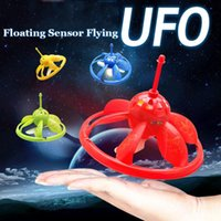 Wholesale Remote Control Floating Flying UFO Infrared Induction Control Toy Hovering RC Saucer with Lights Toys for Kids over Years Old