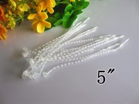 Wholesale pieces inch Transparent Plastic Adjustable Security Beaded Loop Barb Fastener Tag lock Accessories