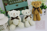 bears toy store - 15 cm tie joint teddy bear cartoon plush bear toy bouquet packaging wedding gift toy store