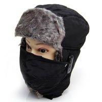 Wholesale Fashion Bluetooth Earphone Bomber Hat Winter Outdoor Sport Warm Wireless Headphone with Mic Men Women Fur Handfree Headset Cap PA3080
