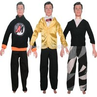 Wholesale 3 Sets Handmade Male Sports Clothes Suits For Barbie Boyfriend Prince Ken Doll Children Gift