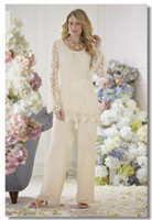 summer wear - New Design Lace Appliques Upper Long T Shirt Loose Chiffon Pants For Mom Formal Wear Mother s Dresses for Wedding Party