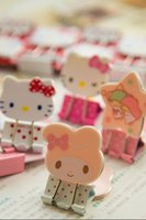 Wholesale Sweet Hello Kitty Melody Steel Binder Clips Clamp Photo Clips Memo Note Clips TRD