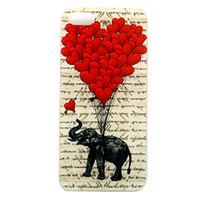 balloons elephant - Vintage Elephant And Red Balloon Hard Plastic Mobile Phone Case Cover For Iphone S S C Plus