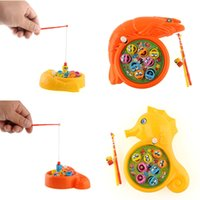 Wholesale Interesting Children Baby Plastic Rotation Magnetic Fishing Game Educational Preschool Toy Set Gift Present