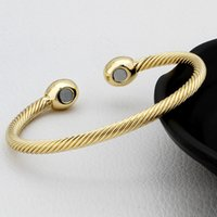 ball health - Fashion Jewelry Ball bracelets bangles for women jewelry Gold Rose Gold vintage magnetic health bracelets