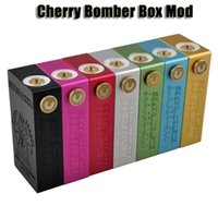 18650 switch - Cherry Bomber Box Mod Aluminum Full Mechanical Mod fit for battery with Magnetic switch VS ola x hero mods