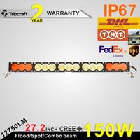amber work - 27 Inch W CREE LED lighting Fog Light Bar Combo Beam amber white LED Work Lamp Off road Truck SUV Color Lens