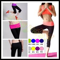 Wholesale free ship woman sports fitness hot pants lady YOGA pants running shorts Gym Leggings athletic Pants S XXL choosing