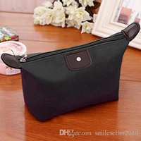 Wholesale Makeup Organizer Bag Dumpling Shape Waterproof Travel Cosmetic Washing Bags Women Handbags Totes ZB0178 Smileseller
