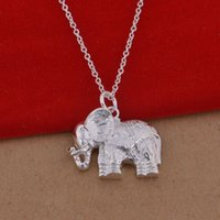 Wholesale 925 sterling silver necklace Korean version of popular elephant necklace jewelry trade large spot