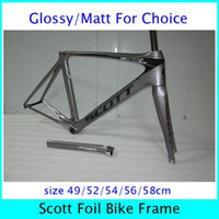 Wholesale 2014 New Arrival Scott Carbon Road Bike Frames Design Your Own Bike Frames Outdoor Racing Bike Frames Pro Team Bike Bicycle Frames