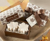 Bath & Soaps Favors baby shower soap favors - 60pcs Cute Maple Leaf Style Wedding Favors Gift Box Creative Scented Soaps For Guest Gifts or Baby Shower Handmade Soap box