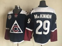 big mens apparel - Colorado Avalanche Mackinnon Hockey Jerseys New Athletic Hockey Jerseys Mens Sports Jerseys Ice Hockey Apparel Uniform Big Discounts