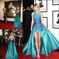 Wholesale Most Popular Swift High Low Evening Dresses Formal Dress Custom Made Sexy Backless Celebrity Pageant Prom Gowns th Grammy LH