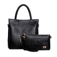 Wholesale Large Piece Artwork - purses and handbags italian handbags with floral large leather handbags small bag composite bag two pieces sell together Z&M610