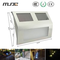 Garden yard fence - LED Solar Power Path Stair Outdoor solar wall Light Garden Yard Fence Wall Landscape Lamp w led
