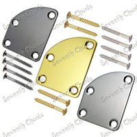 Wholesale Cutaway Type Electric Bass Guitar Neck Plate Unfilled Corner type Neck Joint Plate Chrome Black Golden For Choose