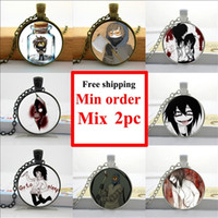 american jeff - NS Creepy Pasta Ticci Toby Necklace Jeff and Jane the Killer Jewelry Pendant Glass Cabochon