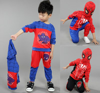 american sports clothing - retail Spiderman Big Boys Clothing set Sets kid jackets Spring Autumn suit baby boy clothes Spiderman Boys sports suit kids clothes