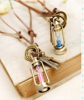 couples sweater - 2015 Ladies Couples Necklaces Mini Alexander Sand Clock Pendants Neckless Sweater Chain Sweety Party Jewelry Girls Women Birthday Gift K4379