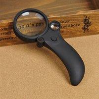 Las lentes ópticas de alta definición Lupa LED + luz UV 5x 10x 20x Ampliación Lupa de lectura de mano Lupa (6PCS / 1lot)