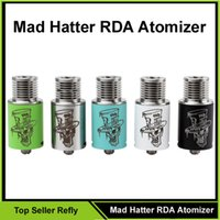 hatter - Mad Hatter RDA Atomizer Foldable Drip Tips RDA Electronic Cigarette Rebuidable Atomizer Vaporizer Thread Fit for Mech Mods Box Refly