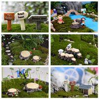Wholesale Crafts Decorations Miniature Multicolour Tree Stump Fairy Terrarium Christmas Xmas Party Garden Gift Garden Ornament Plant Pots
