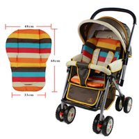 Wholesale baby stroller cushion striped pad pram baby car seat cushion general cotton mat months new arrival