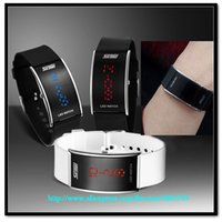 Wholesale unisex cheap luxury gift led watch ATM waterproof digital movement opp plastic package