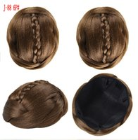 Wholesale Flower Chignons Synthetic Hair Buns Hot Sale Bride Chignons Hair piece Hair Buns Clip in Hair Extensions Full Hair Chignons G0077