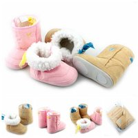 Wholesale New arrival Baby Kids Infants baby boots with Ribbon and Exquisite embroider Toddler Warm Winter Snow Shoes Bootie E303