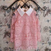 Cheap Pierced baby dress 2015 spring Korean version of the new children's clothing girls long-sleeved dress qz-2407