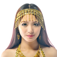 Alloy belly dance jewelry - BELLY DANCE BOLLYWOOD COSTUME TRIBAL JEWELRY GOLD SILVER HEADBAND HEADPIECE PROP Belly Dance Cions Headdress