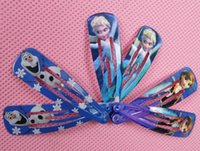 Wholesale Fashion Frozen mixed Hair Clips Girls Hair Clamps Hairpin queen of snow and ice hairpins girls lovely Ornament BB Baby