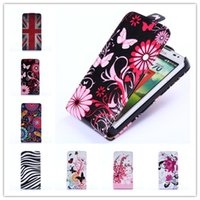 Cheap Wholesale-Luxury Flowers Flip Leather Cases for Samsung Galaxy S3mini S3 SIII Mini i8190 GT-I8190 Wallet cases 8190 S 3 III