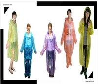 Wholesale CLEARANCE SALE Disposable PE Raincoat one off clear raincoat Poncho Rainwear Travel one time RainCoats Mix Colors