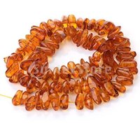 amber chip beads - x13mm Honey Brown Synthetic Amber Irregular Chip Loose Beads inch