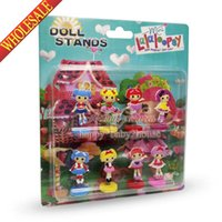 Wholesale New SET The Lalaloopsy Cartoon Spring dolls Action Figures Stand up dolls Mini Furnishing articles dolls For Girls Gifts