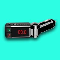 fm radio broadcast transmitter - Latest Universal Car Accessories Dual USB Port Car Charger Small Bluetooth FM Transmitter V A LCD U disk FM broadcast Mp3 AUX